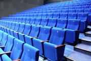 theatre seat manufacturer blue upholstery