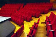 Cinema seats red upholstery prostar