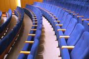 theatre seating manufacturer blue upholstery